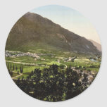 The valley, Laruns, Pyrenees, France classic Photo Stickers