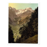 The Valley of Linth (Lintthal) and the Todi, Glaru Postcard
