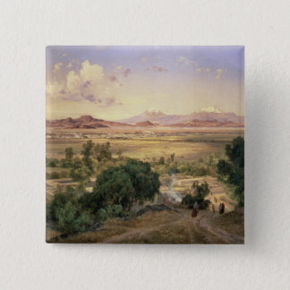The Valley of Mexico from the Low Ridge of Tacubay Pinback Button