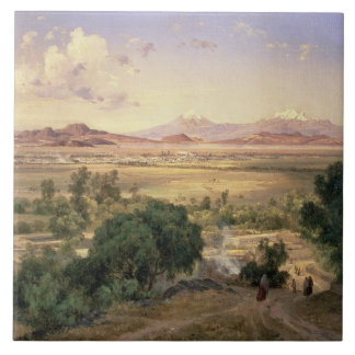 The Valley of Mexico from the Low Ridge of Tacubay Tile