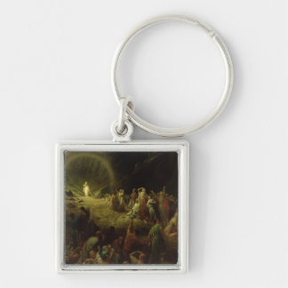 The Valley of Tears, 1883 Silver-Colored Square Keychain
