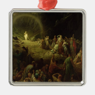The Valley of Tears, 1883 Square Metal Christmas Ornament