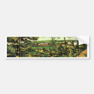 The Valley Of The Oise By Paul Cézanne Car Bumper Sticker