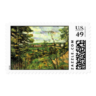 The Valley Of The Oise By Paul Cézanne Postage
