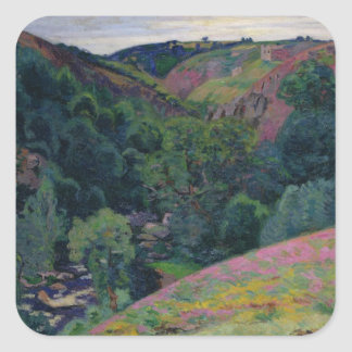 The Valley of the Sedelle, 1897 (oil on canvas) Square Sticker