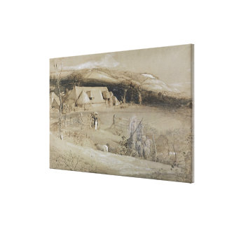 The Valley of Vision (brush, ink wash, bodycolour Stretched Canvas Prints