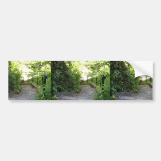 The Valley (Park), Stairway Down To Riverside Walk Bumper Stickers