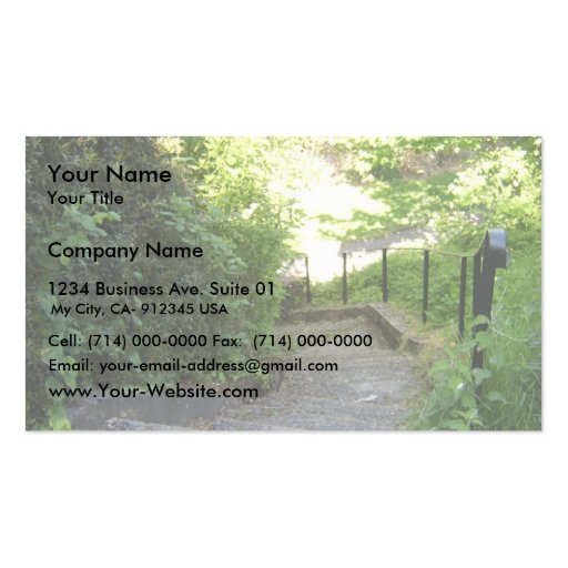 The Valley (Park), Stairway Down To Riverside Walk Business Card Templates