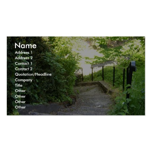 The Valley (Park), Stairway Down To Riverside Walk Business Card
