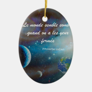 The value of a message is  priceless if we need it ceramic ornament