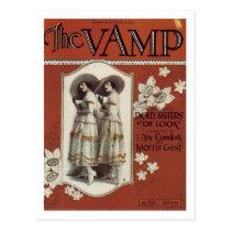The Vamp Vintage Songbook Cover Postcard
