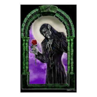 The vampire and the rose poster