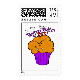 The Vampire Muffin of Doom Postage Stamps