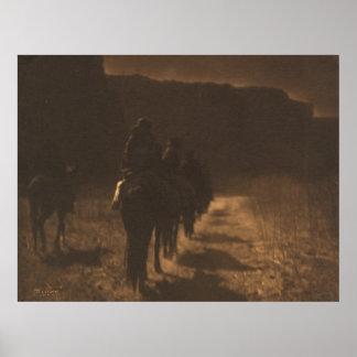 The vanishing race—Navaho. Print