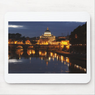 The Vatican At Night Mouse Pad
