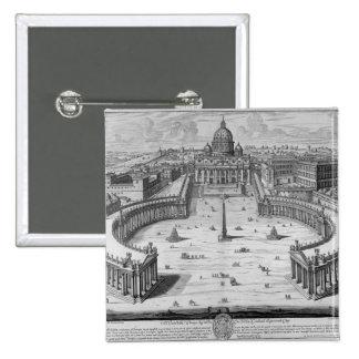 The Vatican, Rome 2 Inch Square Button