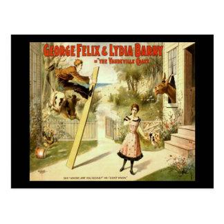 The Vaudeville Craze Postcard