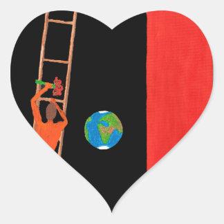 The Vav Letter Heart Sticker