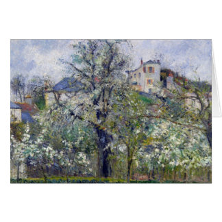 The Vegetable Garden with Trees in Blossom Greeting Card