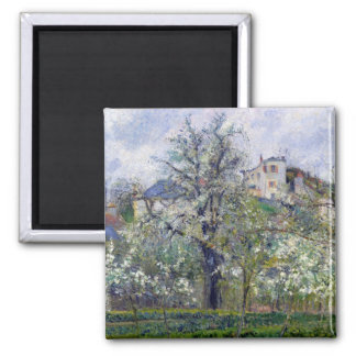 The Vegetable Garden with Trees in Blossom Magnet