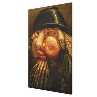 The Vegetable Gardener, c.1590 (oil on panel) Canvas Print