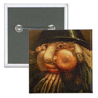 The Vegetable Gardener, c.1590 (oil on panel) Pinback Button