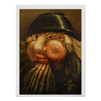 The Vegetable Gardener, c.1590 (oil on panel) Poster