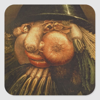 The Vegetable Gardener, c.1590 (oil on panel) Square Sticker