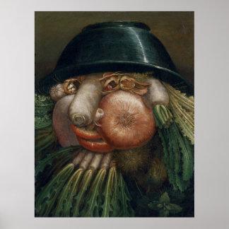 The Vegetable Gardener - Giuseppe Arcimboldo Poster