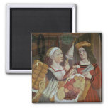 The Vegetable Market 2 Inch Square Magnet