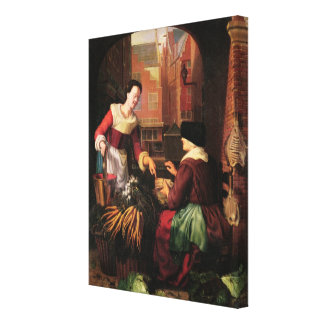 The Vegetable Seller Canvas Print