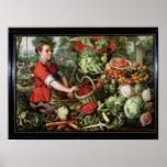 The Vegetable Seller Poster