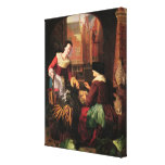 The Vegetable Seller Stretched Canvas Print