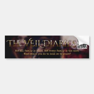 The Veil Diaries Cover Blur Bumper Sticker