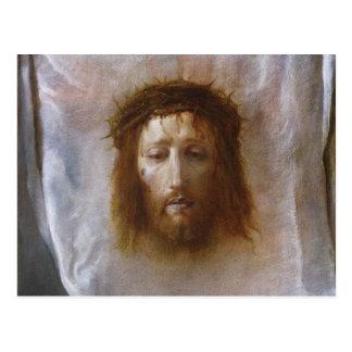 The Veil of Veronica By Domenico Fetti Postcard