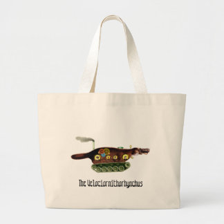 The Velociornithorhynchus ~ Platypus Explorer Large Tote Bag