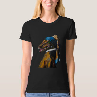 The Velociraptor with the Pearl Earring T-Shirt