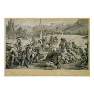 The Vendean Army Crossing the Loire Poster