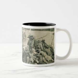 The Vendean Army Crossing the Loire Two-Tone Coffee Mug