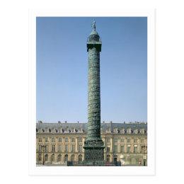 The Vendome Column, with bas-reliefs recording Nap Postcard