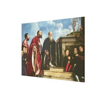 The Vendramin Family, 1543-47 (oil on canvas) Canvas Print