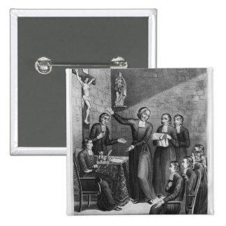 The Venerable Saint Jean-Baptiste de La Salle 2 Inch Square Button