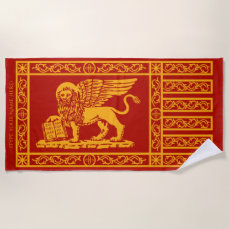 The Venetian Flag Beach Towel