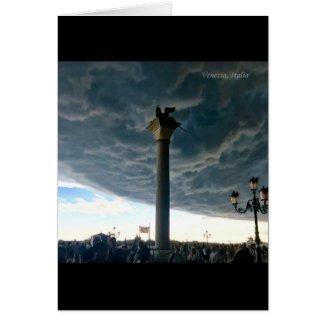 The Venetian Passing Storm Card