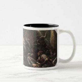 The Venetians Capturing Padua (oil on canvas) Two-Tone Coffee Mug