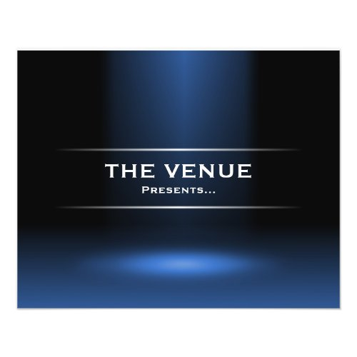 The Venue Presents - Blue flyer
