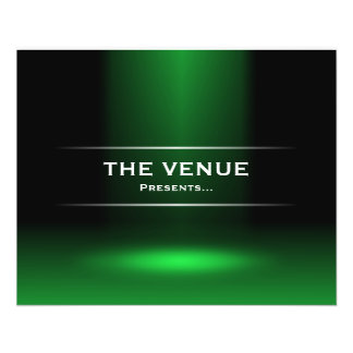 The Venue Presents - Green Flyer