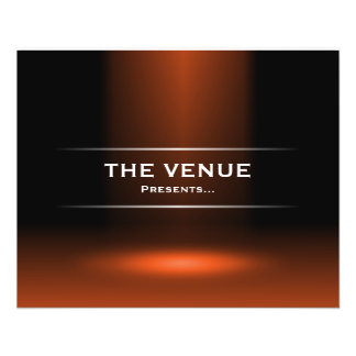 The Venue Presents - Orange Flyer
