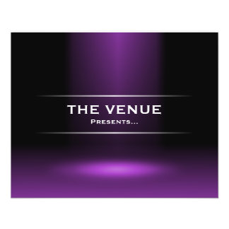 The Venue Presents - Purple Flyer