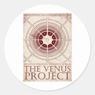 The_Venus_Project_Version_2_by_Ade5 Pegatina Redonda
